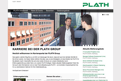 TYPO3-Website PLATH Karriere